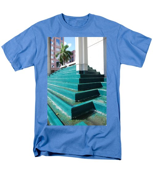 Men's T-Shirt  (Regular Fit) featuring the photograph Water At The Federl Courthouse by Rob Hans
