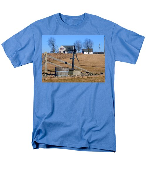 Water Well Men's T-Shirt  (Regular Fit) by Tina M Wenger