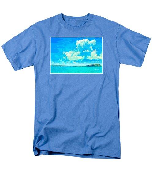 Watercolor Spring On Sarasota Bay Men's T-Shirt  (Regular Fit) by Susan Molnar