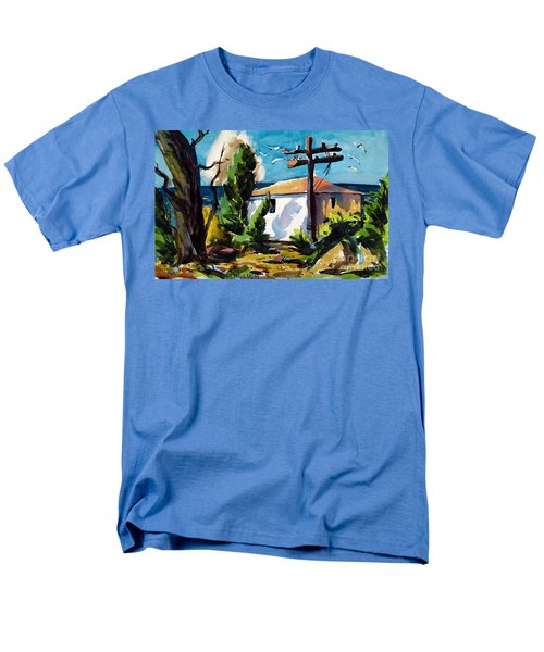 Where I Will Be Double Matted And Plexi-glass Metal Framed Men's T-Shirt  (Regular Fit) by Charlie Spear