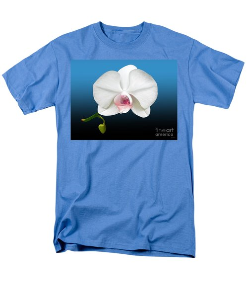 Men's T-Shirt  (Regular Fit) featuring the digital art White Orchid by Rand Herron
