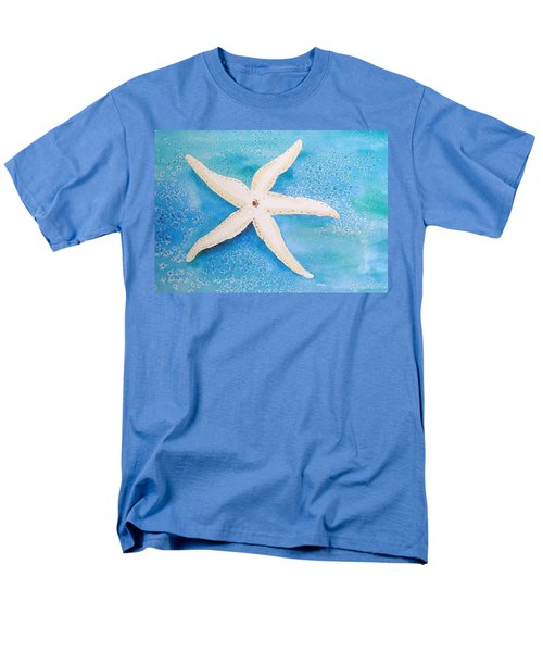 White Starfish Men's T-Shirt  (Regular Fit) by Patricia Piffath