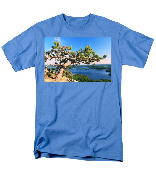 Windswept Pine On Rattlesnake Mountain Men's T-Shirt  (Regular Fit) by Roupen  Baker