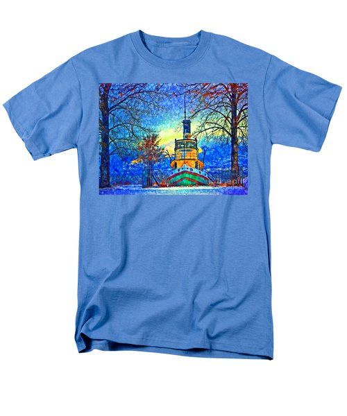 Winter And The Tug Boat 2 Men's T-Shirt  (Regular Fit) by Tara Turner