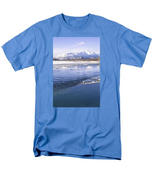 Winter Blues Men's T-Shirt  (Regular Fit) by Michele Cornelius