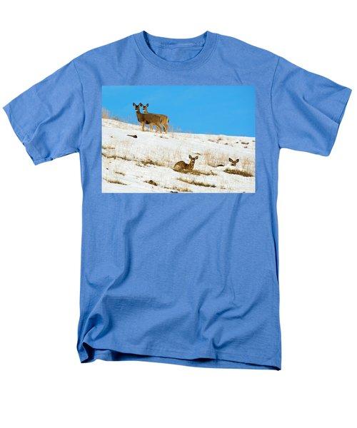 Men's T-Shirt  (Regular Fit) featuring the photograph Winter Deer by Mike Dawson