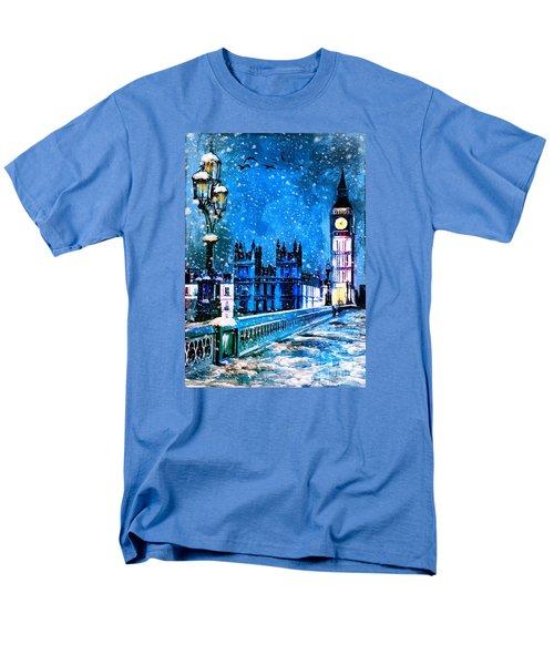 Winter In London  Men's T-Shirt  (Regular Fit) by Andrzej Szczerski