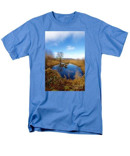 Winter Pond Men's T-Shirt  (Regular Fit) by Sean Griffin