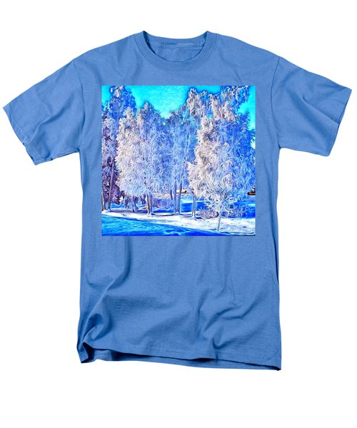 Men's T-Shirt  (Regular Fit) featuring the digital art Winter Trees by Ron Bissett