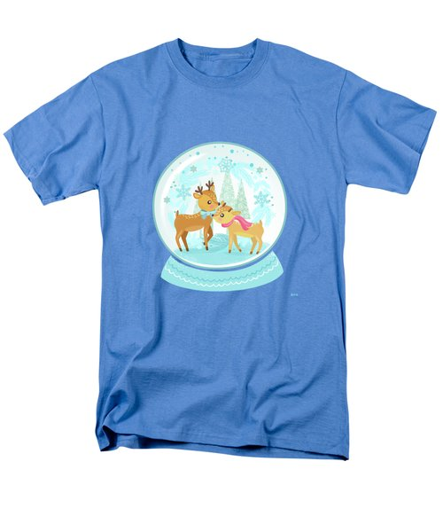 Winter Wonderland Snow Globe Men's T-Shirt  (Regular Fit) by Little Bunny Sunshine