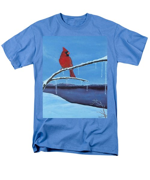 Men's T-Shirt  (Regular Fit) featuring the painting Winter's Red by Susan DeLain