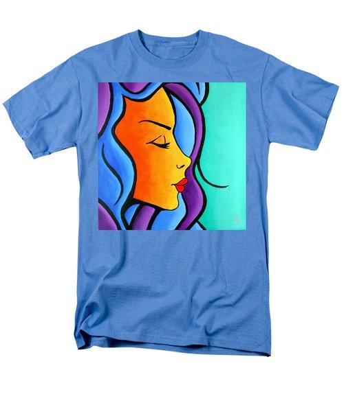 Woman Of Color, Eyes Closed Men's T-Shirt  (Regular Fit)