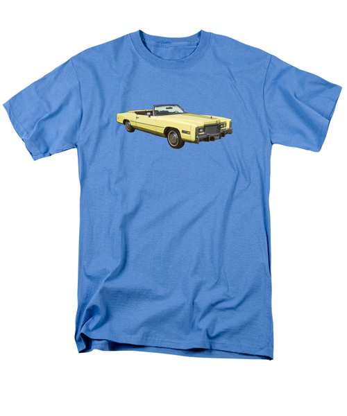 Yellow 1975 Cadillac Eldorado Convertible Men's T-Shirt  (Regular Fit) by Keith Webber Jr