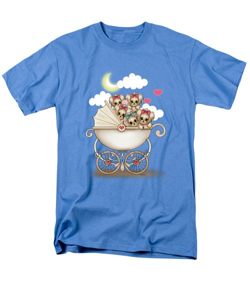 Yorkie Babies Strolling  Men's T-Shirt  (Regular Fit) by Catia Cho