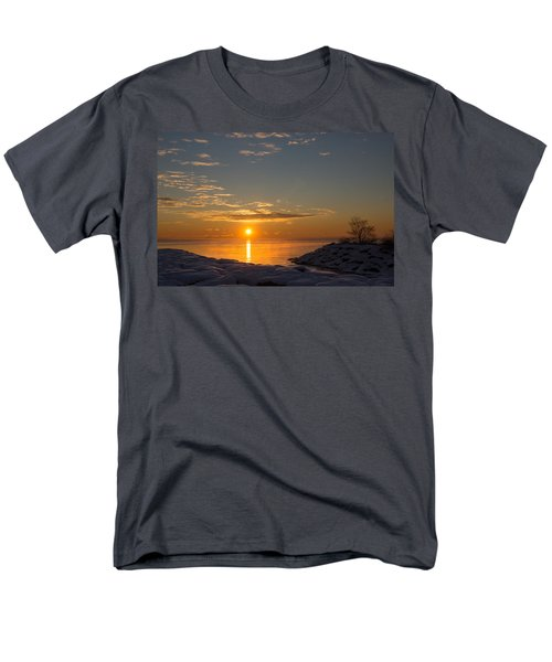 Men's T-Shirt  (Regular Fit) featuring the photograph -15 Degrees Sunrise by Georgia Mizuleva