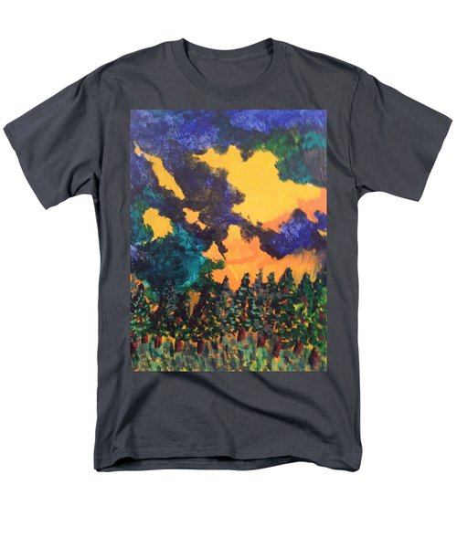 Men's T-Shirt  (Regular Fit) featuring the painting  A Hotshot Fire by Erika Chamberlin