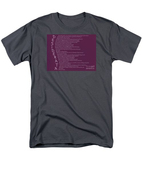 Desiderata 5 Men's T-Shirt  (Regular Fit) by Wendy Wilton