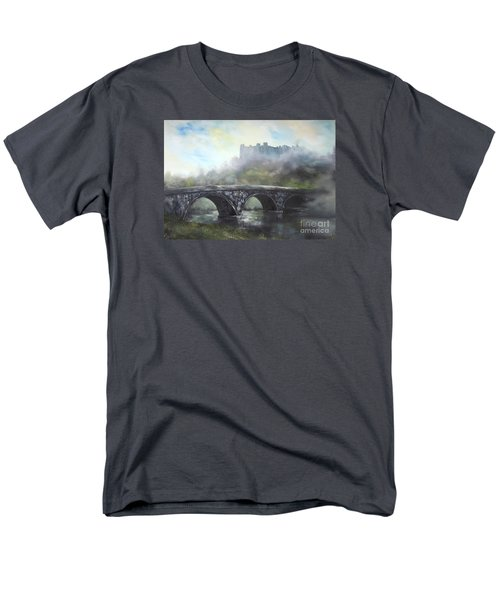 Men's T-Shirt  (Regular Fit) featuring the painting  Ludlow Castle In A Mist by Jean Walker