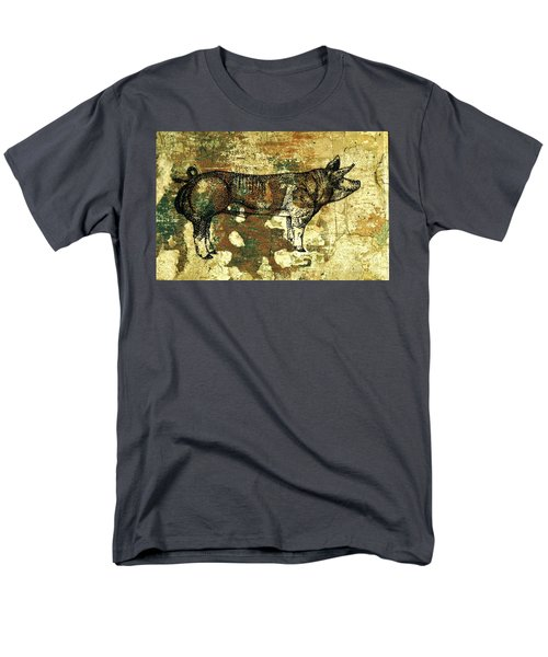 Men's T-Shirt  (Regular Fit) featuring the photograph  German Pietrain Boar 27 by Larry Campbell