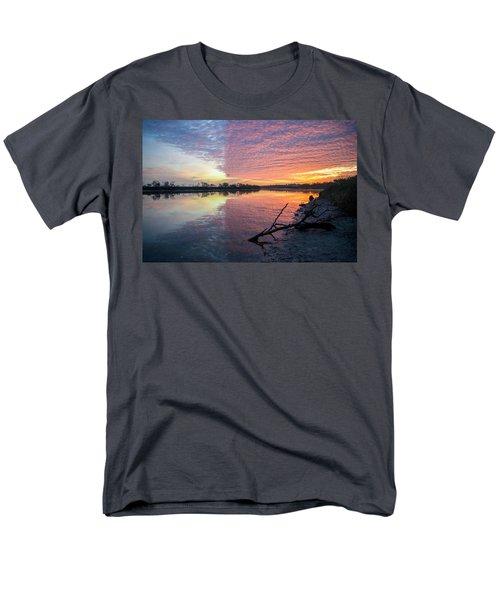 River Glows At Sunrise Men's T-Shirt  (Regular Fit) by Leticia Latocki