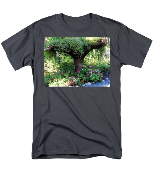 Men's T-Shirt  (Regular Fit) featuring the photograph  Upside Down Tree by Jennifer Wheatley Wolf
