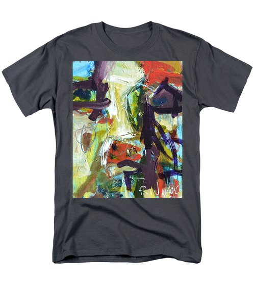 Abstract Cow Men's T-Shirt  (Regular Fit) by Robert Joyner