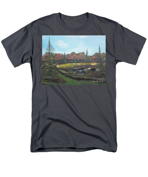 Autumn Landscape Men's T-Shirt  (Regular Fit) by Jan Dappen