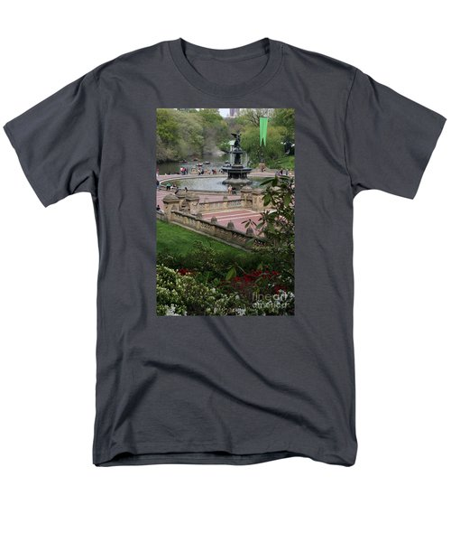 Bethesda Fountain - Central Park Nyc Men's T-Shirt  (Regular Fit) by Christiane Schulze Art And Photography
