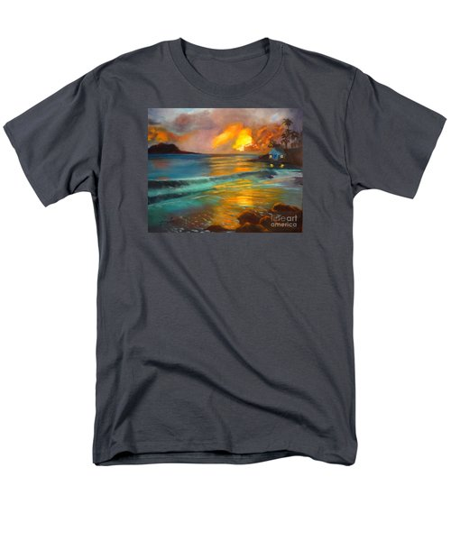 Men's T-Shirt  (Regular Fit) featuring the painting Blue Sunset by Jenny Lee