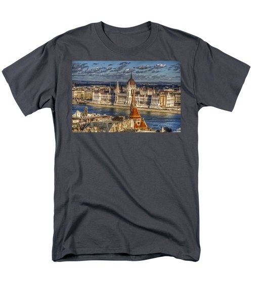 Buda Parliament  Men's T-Shirt  (Regular Fit) by Nathan Wright