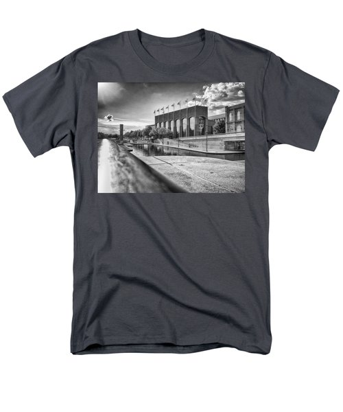 Men's T-Shirt  (Regular Fit) featuring the photograph Canal Walk by Howard Salmon
