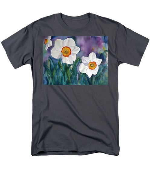Men's T-Shirt  (Regular Fit) featuring the painting Daffodil Dream by Anna Ruzsan