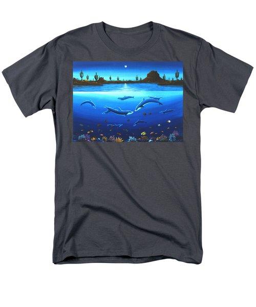 Desert Dolphins Men's T-Shirt  (Regular Fit) by Lance Headlee