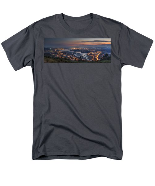 Ferrol's Ria Panorama From Mount Ancos Galicia Spain Men's T-Shirt  (Regular Fit) by Pablo Avanzini