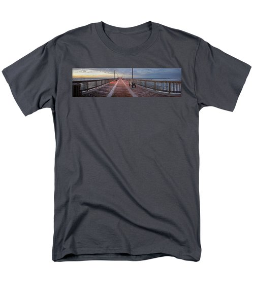 Men's T-Shirt  (Regular Fit) featuring the digital art Gulf State Pier by Michael Thomas
