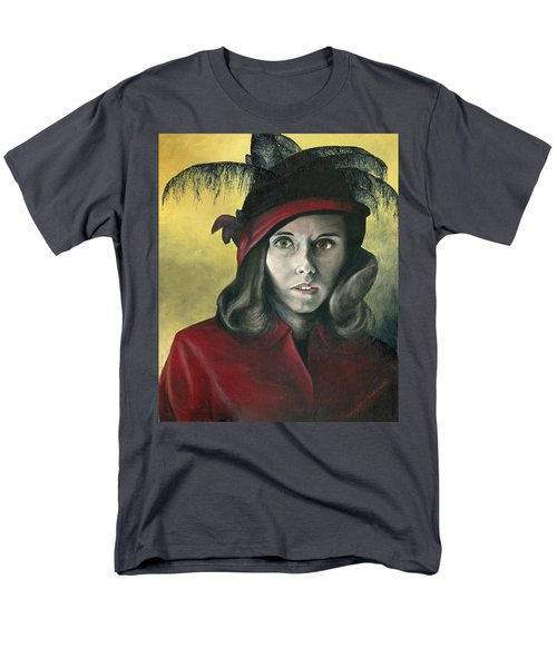 Lady In Red Men's T-Shirt  (Regular Fit) by Mary Ellen Anderson