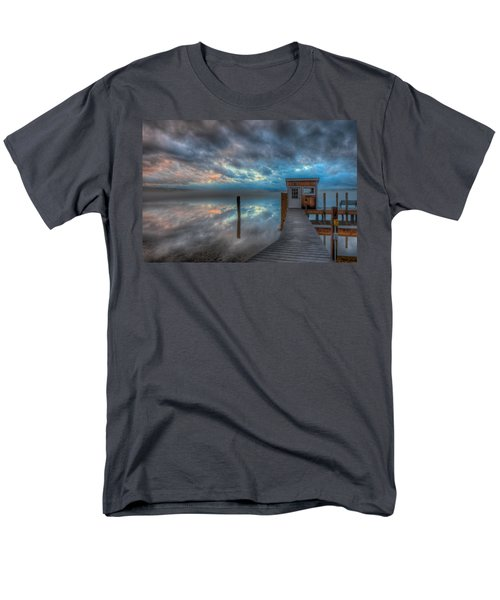 Melvin Village Marina In The Fog Men's T-Shirt  (Regular Fit) by Brenda Jacobs