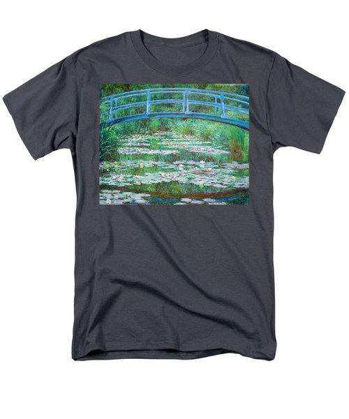 Men's T-Shirt  (Regular Fit) featuring the photograph Monet's The Japanese Footbridge by Cora Wandel
