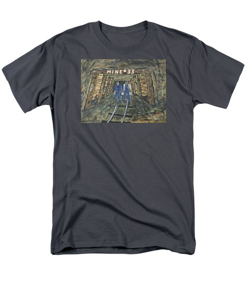 No Windows Down There In The Coal Mine .  Men's T-Shirt  (Regular Fit)