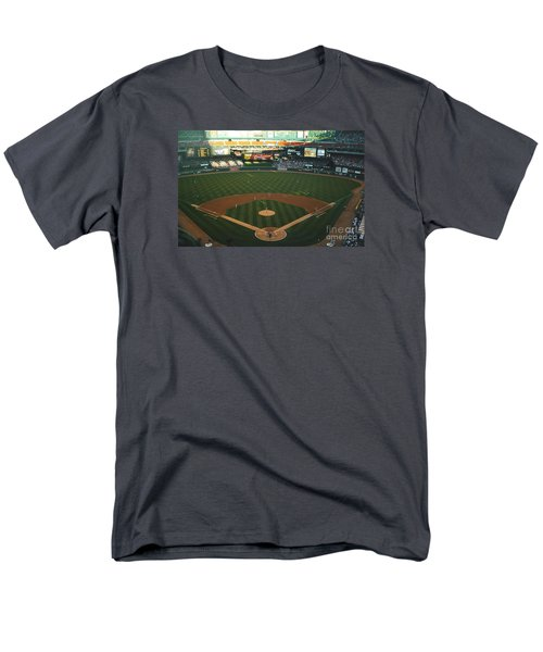 Men's T-Shirt  (Regular Fit) featuring the photograph Old Busch Field by Kelly Awad