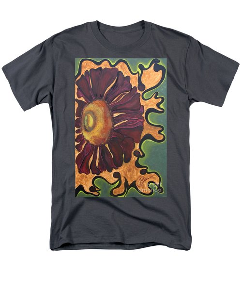 Old Fashion Flower Men's T-Shirt  (Regular Fit) by Jolanta Anna Karolska