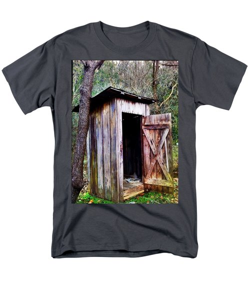 Outhouse Men's T-Shirt  (Regular Fit) by Janice Spivey