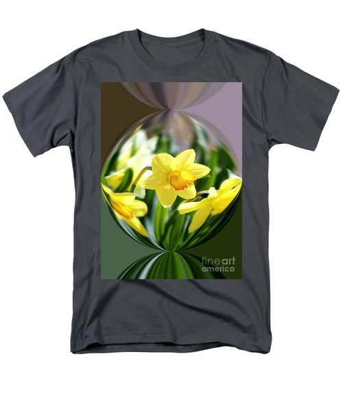 Spring Daffodils   Men's T-Shirt  (Regular Fit) by Tina  LeCour