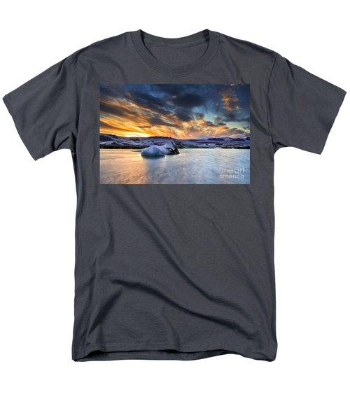 sunset at Jokulsarlon iceland Men's T-Shirt  (Regular Fit) by Gunnar Orn Arnason