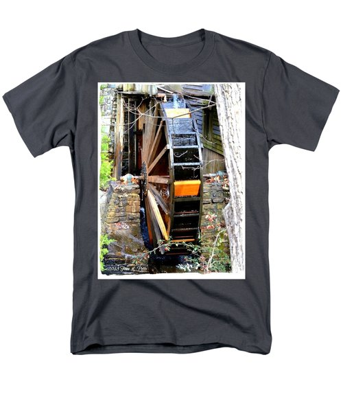 Men's T-Shirt  (Regular Fit) featuring the photograph Water Wheel by Tara Potts