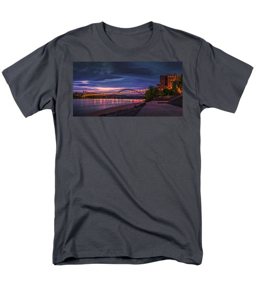 Men's T-Shirt  (Regular Fit) featuring the photograph Wheeling Suspension Bridge  by Mary Almond