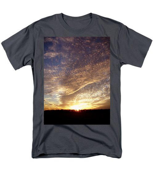 Men's T-Shirt  (Regular Fit) featuring the photograph Wild Sky 2 by Cynthia Lassiter