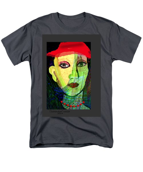1084 - La  Signora ... Men's T-Shirt  (Regular Fit) by Irmgard Schoendorf Welch
