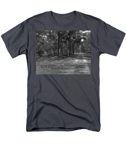 12a- Robert Frost  Men's T-Shirt  (Regular Fit) by Joseph Keane