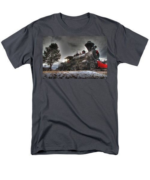 Men's T-Shirt  (Regular Fit) featuring the photograph 1880 Train by Bill Gabbert